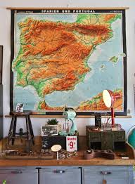 Map Of Spain And Portugal Dig This Vintage German Map Of The Iberian Peninsula At The Found