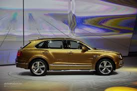 bentley car gold 2016 bentley bentayga makes world debut in gold at frankfurt