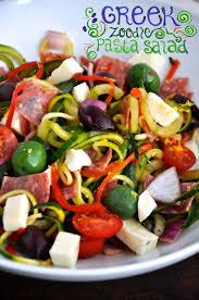 greek zoodle pasta salad