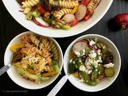 Summer Garden Pasta - rainbow garden pasta salad with dill and olives curry and vanilla