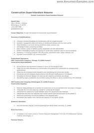 Construction Superintendent Resume Templates Construction Superintendent Resume Examples And Samples Example