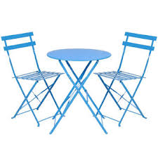 Blue Bistro Chairs Best Choice Products Sky3481 3 Portable Folding Metal Bistro