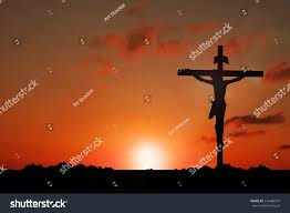 silhouette jesus christ on cross background stock photo 234480907