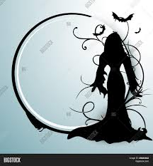 happy halloween clipart banner happy halloween poster banner or flyer with silhouette of a witch