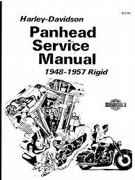harley davidson panhead service manual 1948 1957 rigid el fl