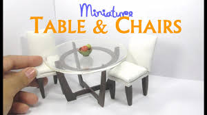 dining table and chairs tutorial for dollhouse dolls and miniature