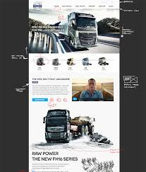 used volvo trucks dribbble volvo trucks website design concept v2 png by peter