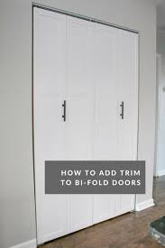 Folding Doors For Closets Diy Tutorial Transform Plain Bi Fold Doors The Diy Playbook