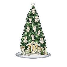 emerald elegance pre lit christmas tree nativity scene collection