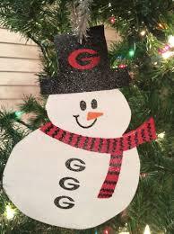 georgia bulldogs snowman ornaments kenlyscreations