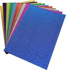 pack of 10 a4 size corrugated craft paper sheets craft