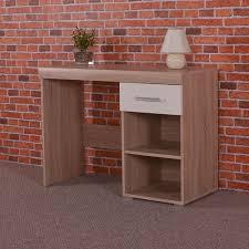 Oak Vanity Table With Drawers White U0026 Sonoma Oak Dressing Table 1 Drawer U0026 Shelf Vanity Unit