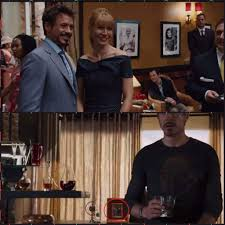 in iron man 2 when tony and pepper take a picture in monaco that