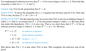 discrete mathematics mathematical induction step 2 n u003c n