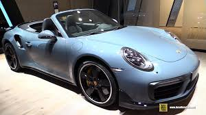 porsche turbo convertible 2017 porsche 911 turbo s convertible exterior and interior