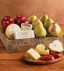 cheese gift baskets deluxe pears apples and cheese gift cheese gifts harry david