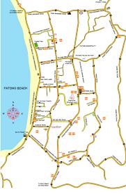 Phuket Map Patong Hotels Resorts Map For Patong Hotel Resort In Patong Beach