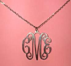 Silver Monogram Necklace Silver Monogram Necklace Cara U0027s Creations