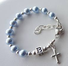 baby rosary sterling silver baby boy baptism personalized rosary bracelet