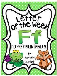 letter of the week letter f activity pack letter f worksheets