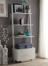 Ladder Bookcase White by Amazon Com Convenience Concepts Designs2go American Heritage