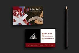 Bible Study Invitation Cards Church Business Card Template Business Card Templates Creative