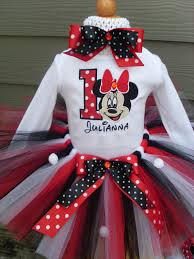 birthday minnie mouse red white black inspired tutu