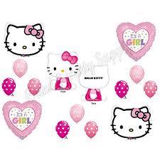 kitty u0027s baby shower mylar balloons decorations