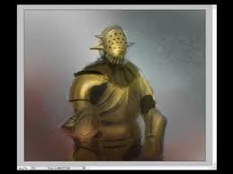 how to draw and paint gold color armor art tutorial youtube