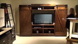 Faux Barn Doors by Lancaster Iii Barn Door Entertainment Center By Liberty Furniture
