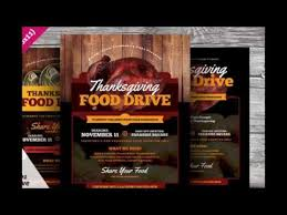thanksgiving food drive flyer templates