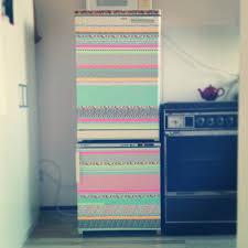 my customized fridge with masking tape diy washi tape kitchen