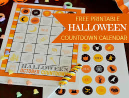halloween countdown calendar free printable u2013 birthday party free