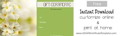 online gift certificates spa gift certificates