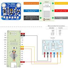 wiring the tls2591 high range lux light intensity ambient