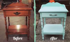 mint painted end table makeover hometalk
