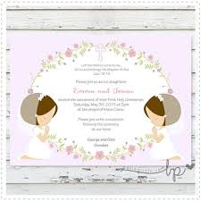 holy communion invitations garden communion invitation for prints