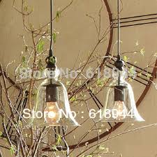 Rustic Bar Lights Rustic Glass Modern Bell Pendant Bell Lighting Corridor Lights