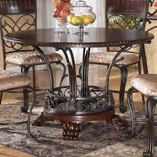 ashley furniture kitchen ashley furniture alyssa round single pedestal dining table with