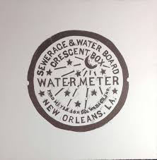 water meter new orleans prints fitzgerald letterpress