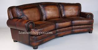 Western Style Furniture Sandringham Conversation Sofa At Leathershoppes Com Leather