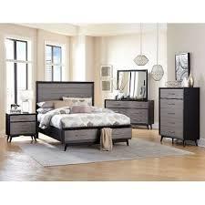 California King Bedroom Sets Contemporary Gray U0026 Black 6 Piece California King Bedroom Set