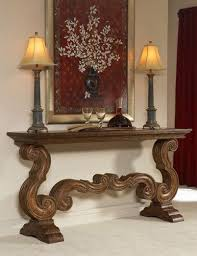 wall tables for living room ambella home tuscan scrolled console table ceiling ls