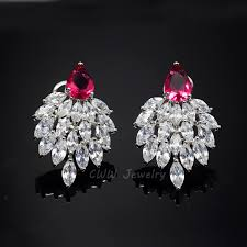 cubic zirconia earrings aliexpress buy cwwzircons 2017 fashion designer brand