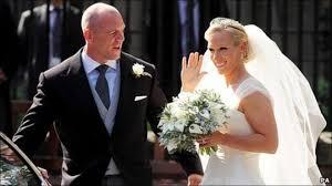 zara phillips wedding ceremony at edinburgh church bbc news