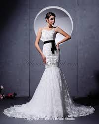 Wedding Dresses With Straps Allens Bridal Lace Spaghetti Straps Neckline Chapel Train