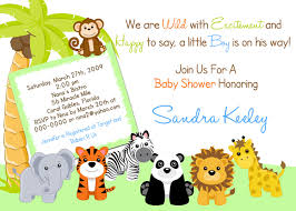 baby shower jungle theme invitations archives baby shower diy