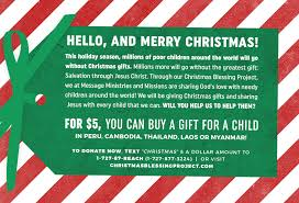 christmas blessing project archives message ministries