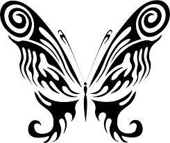 clipart butterfly line art 21