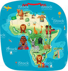 Maps Of Africa by Cartoon Map Of Africa Stock Vector Art 482799885 Istock